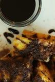 Pain grillé de chocolat Image stock