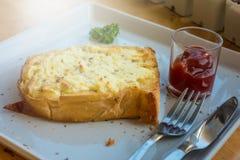 Pain grillé de fromage Photographie stock
