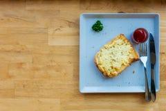 Pain grillé de fromage Photos stock