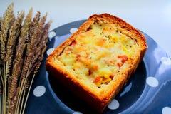 Pain grillé de fromage de pomme de terre Image stock