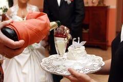 Pain grillé de mariage Image stock