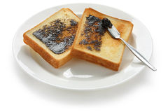 Pain grillé de Marmite images stock
