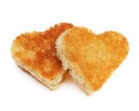 Pain grillé de pain de coeur Photos libres de droits