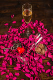 Pain grillé de valentines Images libres de droits