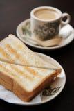 Pain grillé et café Image libre de droits