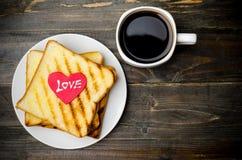 Pain grillé et café Images libres de droits