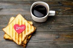 Pain grillé et café Photo libre de droits