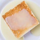 Pain grillé et lait condensé VI Image libre de droits