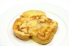 Pain grillé français de beurre Photographie stock