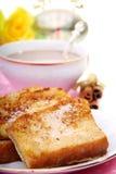 Pain grillé français pour le déjeuner. Photos libres de droits