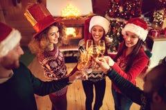 Pain grillé pour des vacances de Noël heureux Images libres de droits