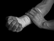 Pain in the hand Royalty Free Stock Images