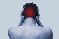 Pain in head Royalty Free Stock Photos