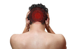 Pain in head Stock Image