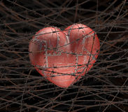 Pain Heart Royalty Free Stock Photos