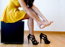 Pain From High Heels Stock Photos