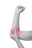 Pain in the joints of the hands Stock Photos