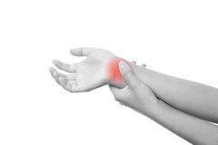 Pain in the joints of the hands Royalty Free Stock Photography