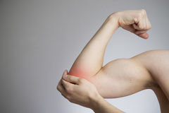 Pain in the joints of the hands. Care of male hands Stock Photos