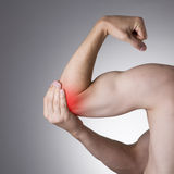 Pain in the joints of the hands Stock Image