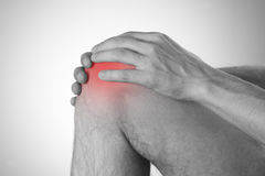 Pain in the knee Royalty Free Stock Photo