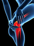 pain in the knee Royalty Free Stock Photography