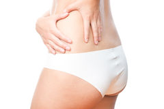 Pain in left side of body Stock Images