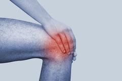 Pain in leg Royalty Free Stock Photography