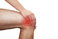 Pain in leg Stock Photos