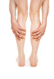 Pain in the legs Stock Image