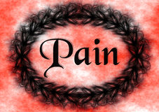 Pain Lettering Sign Poster spikes frame. Royalty Free Stock Image