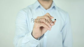 Pain Makes People Change, Writing On Transparent Screen stock video footage