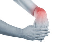 Pain in a man wrist Royalty Free Stock Photography