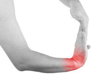 Pain in a man wrist Royalty Free Stock Photos