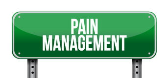 Pain management road sign illustration Royalty Free Stock Image