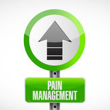 Pain management road street sign illustration. Isolated over a white background Royalty Free Stock Image