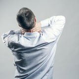 Pain neck. The back man Stock Photo