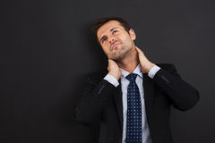 Pain in the neck Royalty Free Stock Image