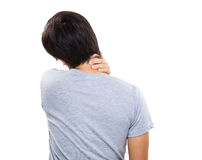 Pain neck of man Stock Photo