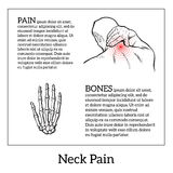 Pain in the neck of a man. Vector sketch illustration , man holding his hand sore neck, spine disease or muscle overexertion, human neck injury,  black and Royalty Free Stock Photo