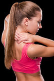 Pain in a neck. Stock Photography