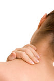 Pain in a neck at the woman Royalty Free Stock Image