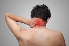 Pain in neck Stock Photos