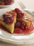 Pain Perdu with Berry Syrup Royalty Free Stock Photography