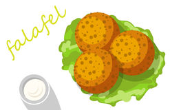 Pain pita bourré par Falafel avec des légumes Images libres de droits