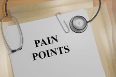 Pain Points concept Stock Photo