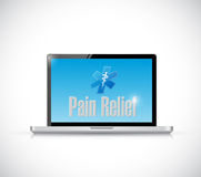 pain relief medical sign on a computer Stock Image