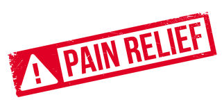 Pain Relief rubber stamp Stock Photos