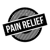Pain Relief rubber stamp Stock Photo