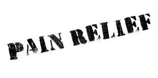 Pain Relief rubber stamp Stock Photography